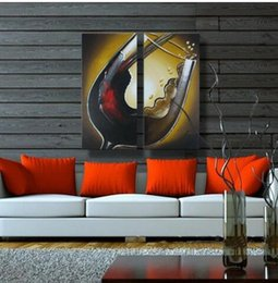 Hand painted modern wall art living room home decor beautiful group oil painting on canvas