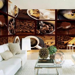 Wholesale D Stereo Custom Coffee Bean Chocolate Bread Delicious Restaurant Wallpaper Bedroom Mural Living Room Wallpaper