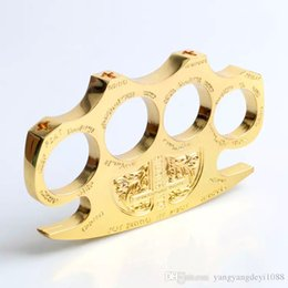 Gold and Silver Hell detective Constantine Steel Brass knuckle dusters,Self Defense Personal Security Women's and Men's self-defense Pendant
