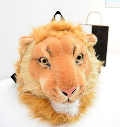 Wholesale 3D Tiger Lion Head New style Cloth school bags women backpacks Small female backpack students shoulder bags