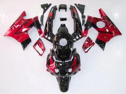 Alta calidad Carenados + tanque para Honda CBR600 F2 91 92 93 94 CBR 600 1991 1992 1993 1994 CBR600F2 kits de carenado # f83k4 Rojo negro desde 91 carenados honda cbr fabricantes