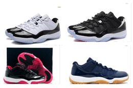 Wholesale Cool Shoes For Sale - Hot sale 11 72-10 Concord Bred Legend Blue Gamma Blue Space Jam Retro 11s basketball shoes for men sports Sneakers cool 41-47