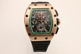 Wholesale Rm al cheap date Rose gold case skeleton nouveau mode automatique de luxe Wristwatche hommes montre sport Stainless STEEL Men s Watches