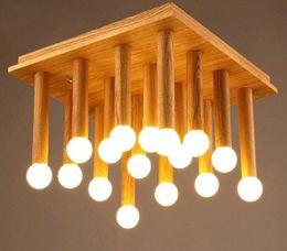 Wholesale LOFT Modern Fashion Simple Creative Wood LED Ceiling Light Bedroom Balcony Aisle Lamp Dining Room Light MYY