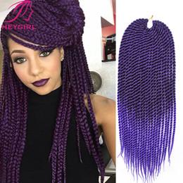 Promotion 22 pouces extensions de cheveux longueur En gros-Crotchet Tresses 22 pouces de long Kanekalon Crochet Twists Hair Box tressage extensions de cheveux 120G / Pack Marley Braid cheveux