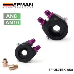 Wholesale EPMAN Universal Oil Filter Cooler Sandwich Plate Adapter The color Black High Quality EP OL01BK AN8 AN10 Have In Stock