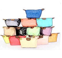 Women Cosmetic Bags nylon Makeup Pouch Chic Portable Travel Clutch Toiletry Waterproof Handbag Purse