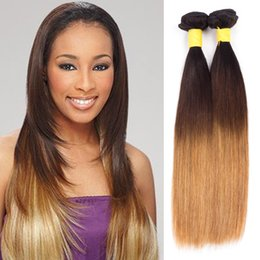 Grace Length 7A ombre hair extensions brazilian virgin straight of hair bundles ombre straight weave bundles hair natural color 1B 430