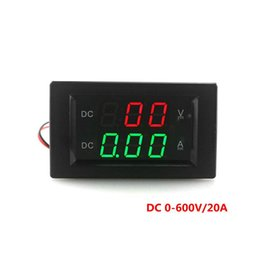 LED Digital Voltmeter Ammeter DC 0-600V 20A Power Supply DC 3.5-30V DC VOLT AMP Tester Gauge with Red And Green Dispay