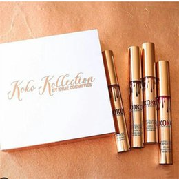 Wholesale In Stock Christmas Limited KOKO KOLLECTION Gold Real Pictures Makeup set KYLIE Liquid Matte Lipstick Kollection by Kylie Cosmetic