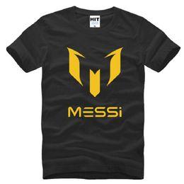 Wholesale New Designer Messi T Shirt Men Fashion Soccer Jerseys Short Sleeve Cotton Argentina Star Tops Tees Male Football Sport Tee Shirt