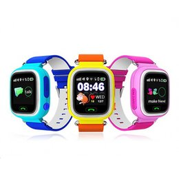 Enfants finder à vendre-DHL GPS enfant Smart Watch Q90 écran tactile WIFI Positionnement des enfants SOS Call Localisation Finder Tracker Safe Anti Lost Monitor