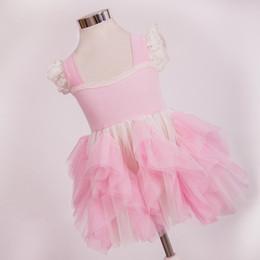 Pink Girls Cake Robe Dentelle d'été Layered robe de maille TUTU Robes de soirée Enfants Lovely Clothes Livraison gratuite Wholesale Kids Clothes à partir de dentelle en couches robe tutu enfants fabricateur