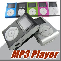 "Mini Clip Mp3 player with 1.2"" LCD screen Metal style Support Micro SD card and TF slot with earphone USB Charging Cable B-MP"