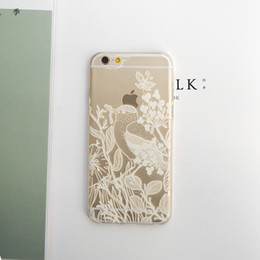 Cell phone Case For iphone 5S 6S 6Plus 7 7Plus e Damask Pattern Vintage Flower Case Cover Retro Engraved Matte Flower for Women