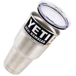Wholesale Bilayer Stainless Steel Insulation Cup OZ YETI Cups Cars Beer Mug Large Capacity Mug Tumblerful Camping Cup Hiking from Girls