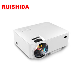 quad lcd Promotion Vente en gros-Quad Core Android 4.4 WiFi Prise en charge 1080P Full HD LCD Projecteur Home Cinema sans fil