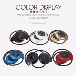 Hot Mini-503 Universal Foldable Neckband Wireless Stereo Bluetooth Earphone Sport Headset Music Player Headphone Hands Free Calling for LG