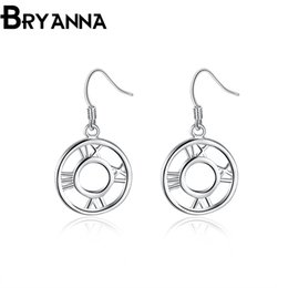 Bryanna 925 sterling silver dangling earrings for women Fashion Jewelry Wholesale Wedding Gifts Round aretes drop Rome Earings E2041