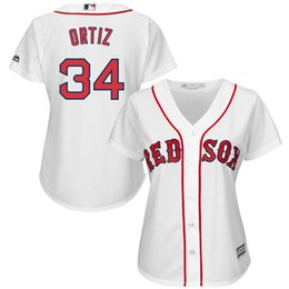 2016 Majestic Boston Red Sox David Ortiz #34 Women's Cool Base Player Jersey Baseball Jerseys free shipping