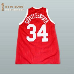 Wholesale TIM VAN STEENBERGEB Jesus Shuttlesworth Big State Basketball Jersey He Got Game Stitched Sewn Red size small S xl