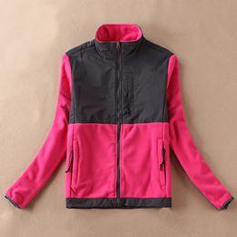 Hot warm Women Fleece Jacket Patchwork Embroidery Coat Waterproof Bomber sports Jacket 22 colors available S-XXL