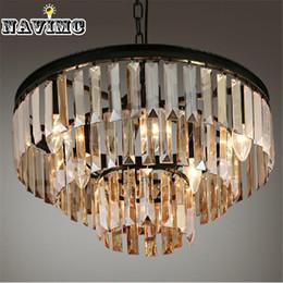 Casa comedor en Línea-Lámpara de cristal de la lámpara de la lámpara de la lámpara de la lámpara de la suspensión del negro