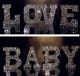 Sparkling Diamond Crystal Love  Baby Letters Valentine DecorMantle Deco Gift Love Sign
