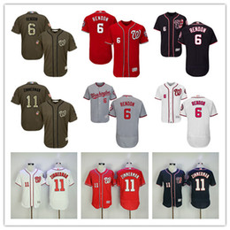 2017 gros national MLB 2017 Washington Nationals Baseball Anthony Rendon Ryan Zimmerman Maillots Flexbase Team Bleu foncé Blanc Rouge Gris Vert Vente en gros abordable gros national