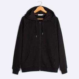 Mens Casual Hoodies Black Gray Gym Cloth Solid Fashion Good Quality Sweatshirts With Zipper