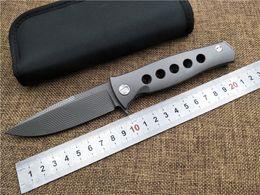 Wholesale Newest KESIWO Dr Death Mayo ball bearing Folding Knife D2 Titanium Handle Camping Hunting Survival Knives Outdoor EDC Tools