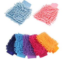 Wholesale Car cleaning Super Mitt Microfiber Car Wash car detailing washing Cleaning Gloves car care window wash