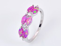Wholesale & Retail Fashion Fine Pink Fire Opal Rings 925 Silver Plated Jewelry For Women RJL1528002