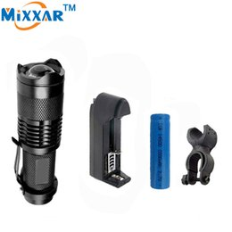 1000LM LED Flashlight CREE Q5 Mini Bicycle Light LED Bike Light Front Torch High Power Light Waterproof+1*Holder+1*Battery+1Charger