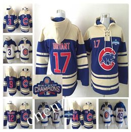 Wholesale 2016 Chicago Cubs Hoodie Javier Baez Kris Bryant Anthony Rizzo baseball jerseys Pullover Hooded Sweatshirt