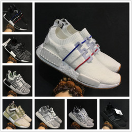 Wholesale Cheap NMD Runner Primeknit Discount Sales Men's & Women's NMD R1 Primeknit PK Sports Shoes Men Woman NMD Running Boost with Box