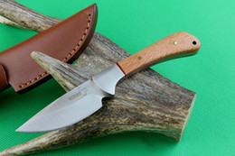 Descuento cuchillos de perlas manejado Boker Plus Bowie Cuchillo fijo de hoja Cuchilla de madera de perla 440C 58HRC Cuchillo de bolsillo táctico de acampada de supervivencia de caza Utilidad militar EDC Herramienta