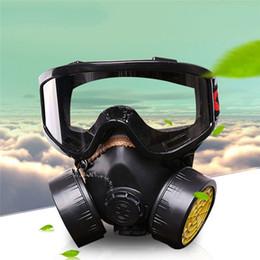 Promotion masque pour les produits chimiques Vente en gros Masque de gaz protection Filtre gaz chimique Respirateur Masque de poussière de sécurité Peinture spray anti pesticides anti-poussière Kit Voyage