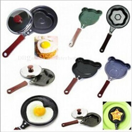 Wholesale Mini Fried Eggs Pans Omelette Pans Cartoon Frying Pan Pancake Heart Shape Egg Non stick Pan Cooking Egg Tools Fashion Kitchen Cookware B1637