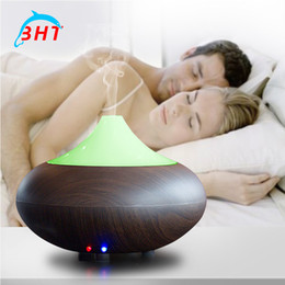 Wholesale Essential Oil Aroma Diffuser With Color LED Ultrasonic Cool Mist Home Humidifier Aroma ml Aromatherapy Waterless Auto Shut off