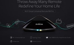 Wholesale Original Broadlink RM2 RM PRO Télécommande intelligente universelle Smart Home Automation Commutateur WIFI IR RF via IOS Android dhl