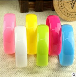 Fashion Plastic Hand Charm Bracelets Bangles Light Candy color Women Girl hand Accessories jewelry free shipping