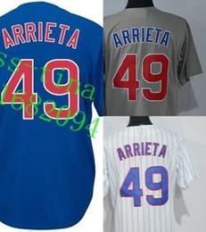 2015 Cool Base Alternate Chicago Jerseys Womens #49 Jake Arrieta Sport shirts Embroidery Logos 100% stitched Baseball Jerseys