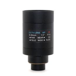 f1.6 1 3inch Mega Pixel 5-50MM m14 cctv camera lens in-line small interface manual iris zoom lens
