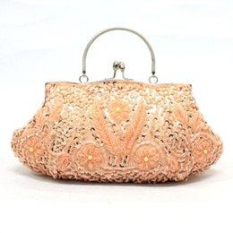 De lujo de lujo nupcial monedero Banquete Día de embrague mujeres bolsa de mano bolsa de mujer damas elegante lleno de cuentas mujeres embrague día desde señoras monederos moldeado proveedores