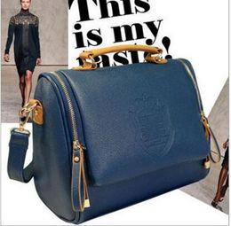 2017 Free shipping Vintage Crown Shoulder Messenger Tote Satchel Bags Leather Handbag