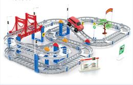 Erencook Electronic Carreras de coches de seguimiento de Niños Juego de Niños Juego Niños Xmas Regalo de Ferrocarril Bloque de juguete (Colorido) desde niños juegos niños fabricantes