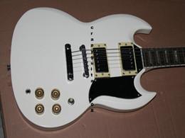 Hot Sale SG White body Touche palissandre Guitare électrique 6 Cordes Guitares Livraison gratuite à partir de cordes sg fabricateur