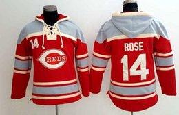 Wholesale Baseball jersey hoodie cincinnati reds Deion Sanders Pete Rose Johnny Bench Joey Votto Ken Griffey Jr player hoodie