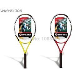 Wholesale 2017 New AAA Tennis Rackets Top Carbon Fiber Tennis Racket Carbon Graphite Regular Grade Tennis Sport Light Tip Outdoors PC drop shipping